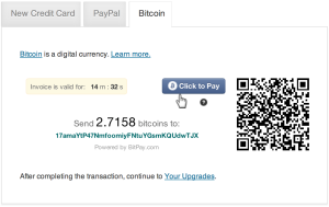 Método de pago con bitcoins