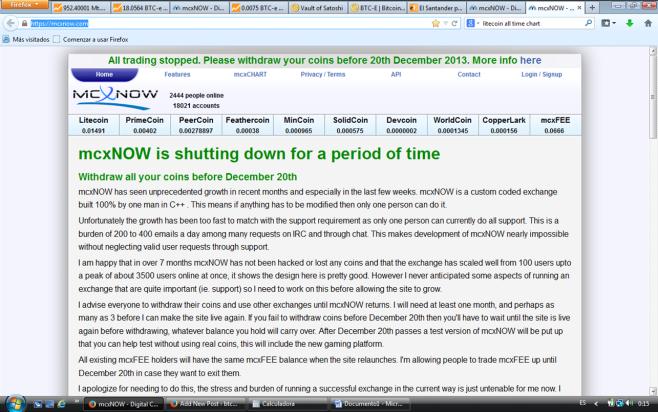 mcxNOW shuts down temp