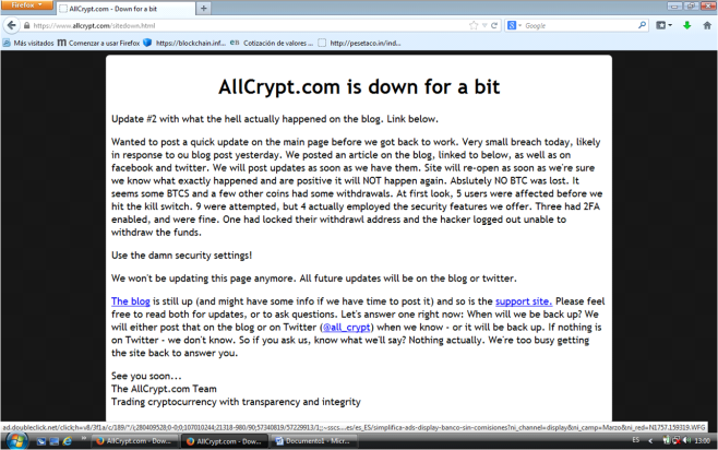 Allcrypt hacked