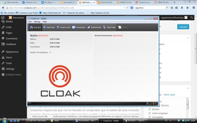 Cloakcoin Wallet